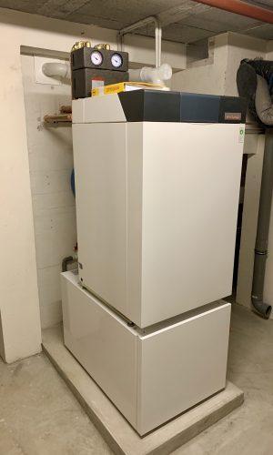 Chaudière fuel à condensation Weishaupt avec production d'eau chaude
